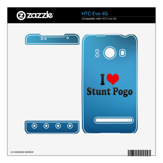I love Stunt Pogo Decal For The HTC Evo 4G