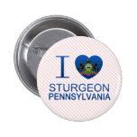 I Love Sturgeon, PA Pinback Button