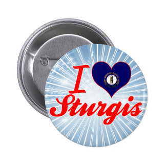 I Love Sturgis, Kentucky Pinback Button