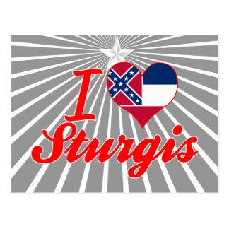 I Love Sturgis Mississippi Post Card