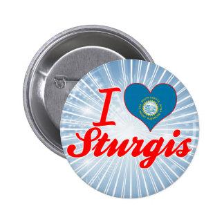I Love Sturgis, South Dakota Pins