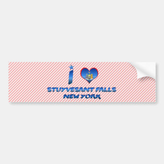 I love Stuyvesant Falls, New York Car Bumper Sticker