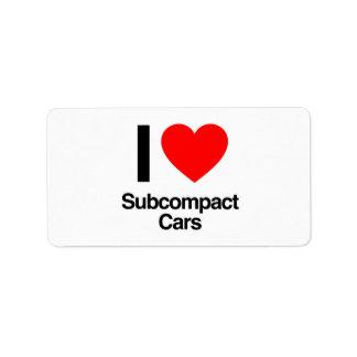 i love subcompact cars address label