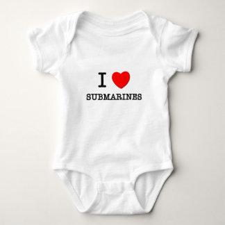 I Love Submarines Baby Bodysuit