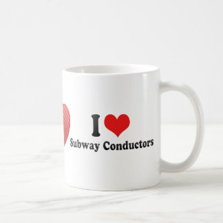 I Love Subway Conductors Mug