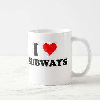 I Love Subways Coffee Mug