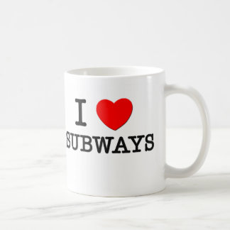 I Love Subways Coffee Mugs