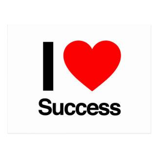i love success postcard