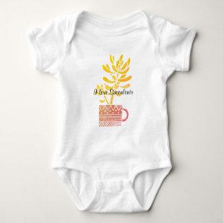I love Succulents Baby Bodysuit