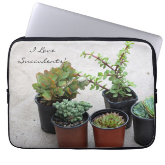 I love succulents laptop sleeve