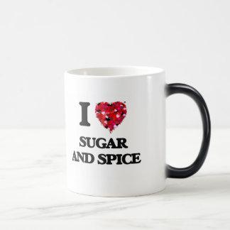 I love Sugar And Spice 11 Oz Magic Heat Color-Changing Coffee Mug