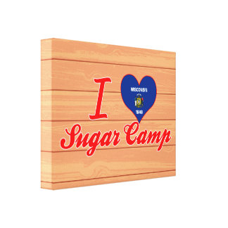 I Love Sugar Camp, Wisconsin Stretched Canvas Print