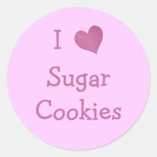 I Love Sugar Cookies Classic Round Sticker
