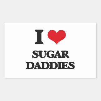 I love Sugar Daddies Rectangular Sticker