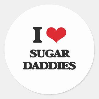 I love Sugar Daddies Round Sticker