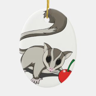 I Love Sugar Glider Ceramic Ornament