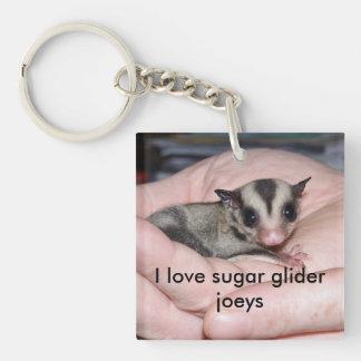 I love sugar glider joeys Single-Sided square acrylic keychain