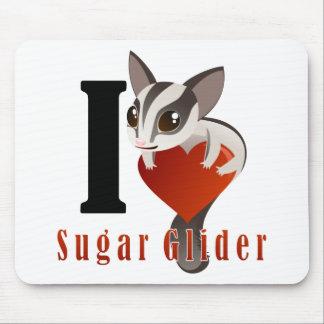 I Love Sugar Glider Mouse Pad