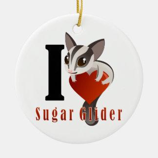 I Love Sugar Glider Christmas Tree Ornaments