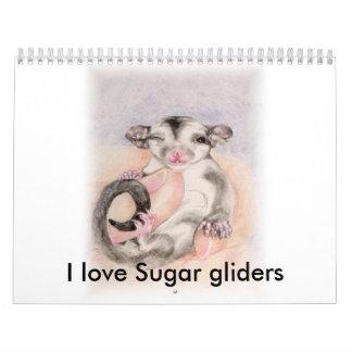 I love Sugar gliders calender Calendar