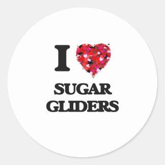 I love Sugar Gliders Classic Round Sticker