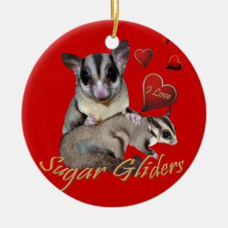 I Love Sugar Gliders ornament