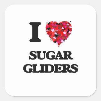 I love Sugar Gliders Square Sticker