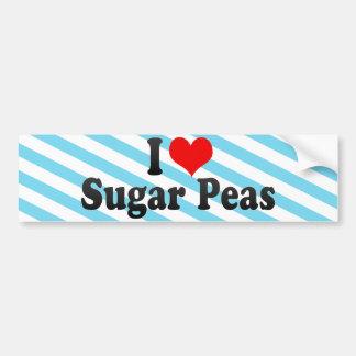 I Love Sugar Peas Bumper Stickers