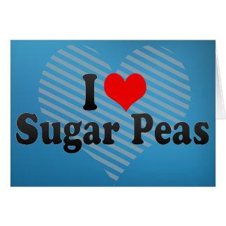 I Love Sugar Peas Greeting Card
