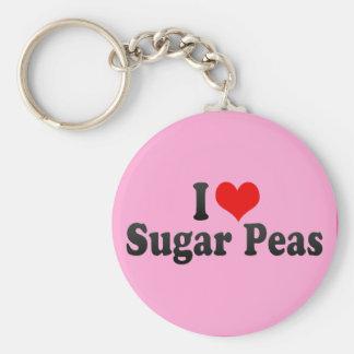 I Love Sugar Peas Keychain