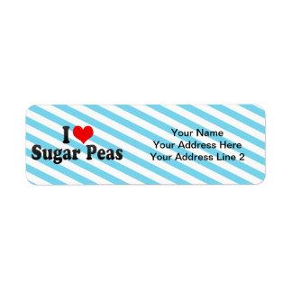 I Love Sugar Peas Custom Return Address Labels