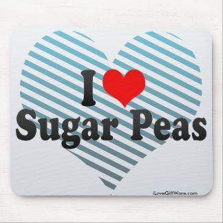 I Love Sugar Peas Mouse Pad