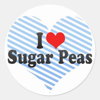I Love Sugar Peas Round Sticker