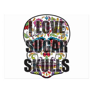 I Love Sugar Skulls Postcard