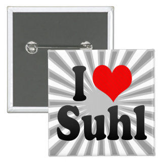 I Love Suhl, Germany. Ich Liebe Suhl, Germany Buttons