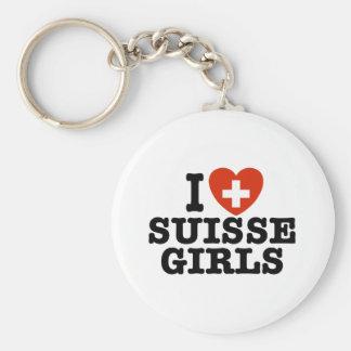 I Love Suisse Girls Keychain