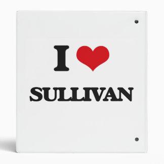 I Love Sullivan Vinyl Binder