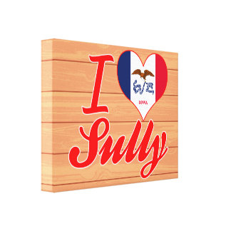 I Love Sully, Iowa Stretched Canvas Prints