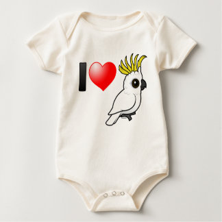 I Love Sulphur-crested Cockatoos Baby Bodysuit