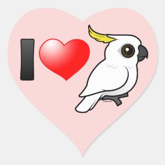 I Love Sulphur-crested Cockatoos Heart Sticker