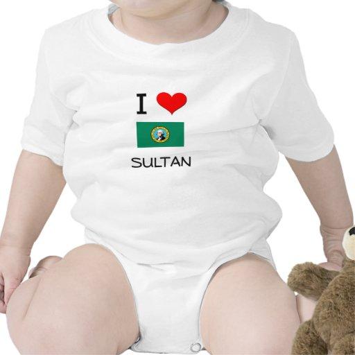 I Love Sultan Washington Baby Bodysuits