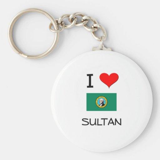 I Love Sultan Washington Keychains
