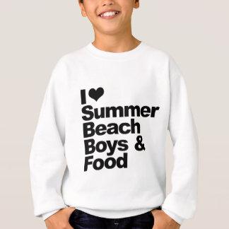 I love summer beach boys and food sweatshirt