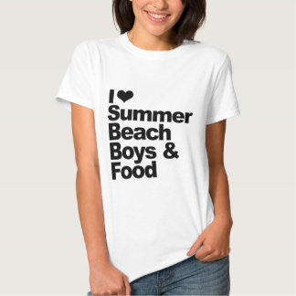 I love summer beach boys and food T-Shirt