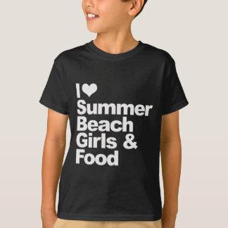 I love summer beach girls and food T-Shirt