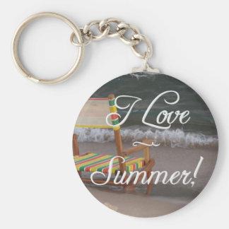 """I Love Summer"" Beach Scene Key Chain"