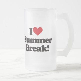 I Love Summer Break! 16 Oz Frosted Glass Beer Mug