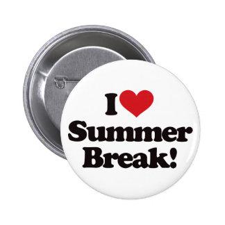 I Love Summer Break! 2 Inch Round Button