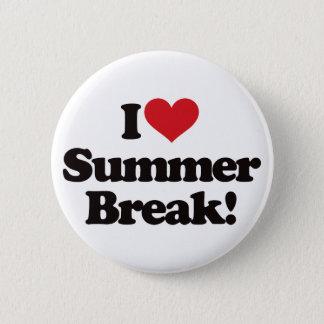 I Love Summer Break! Button