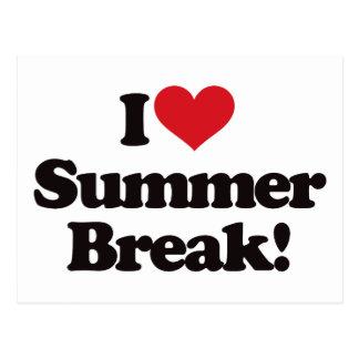 I Love Summer Break! Postcard